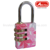Colour Heat Plated Design Combination Brass Padlock (803)
