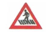 Traffic Zebra crossing Sign