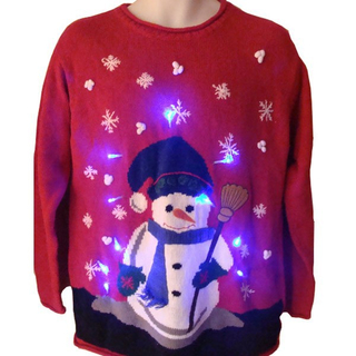 2019 LED adults ugly christmas Christmas sweater custom knitt holiday novelty jumper with music pullover