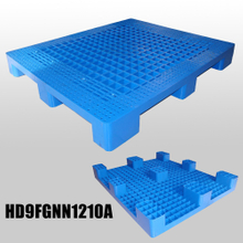 L1200*W1000*H140m Light duty plastic pallet with 9 fee & grid deck