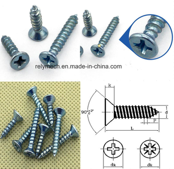 Counter Sunk Head Zinc-Plating Self Tapping Screw