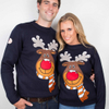 PK17ST080 The Reindeer Best price Plus size Christmas Jumper Couples