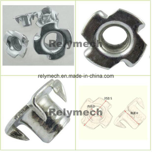 Zinc Plated Carbon Steel T Nuts/Tee Nut/Four Prongs/Claws Nut