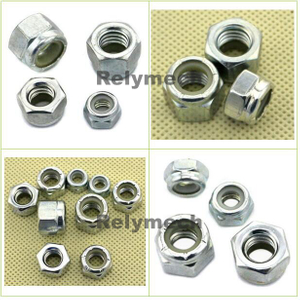 Inch/American Zinc Plated Carbon Steel Nylong Insert Hex Lock Nut