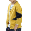 P18B032BE kids spring autumn knitted cotton cashmere contract color design button cardigan sweater