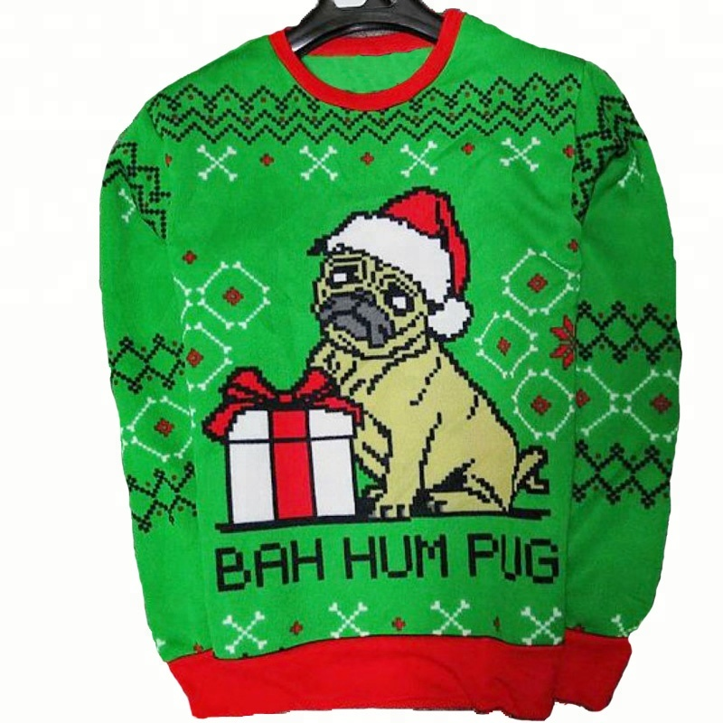 Unisex holiday fashion acrylic pet dog ugly christmas sweater manufacturer