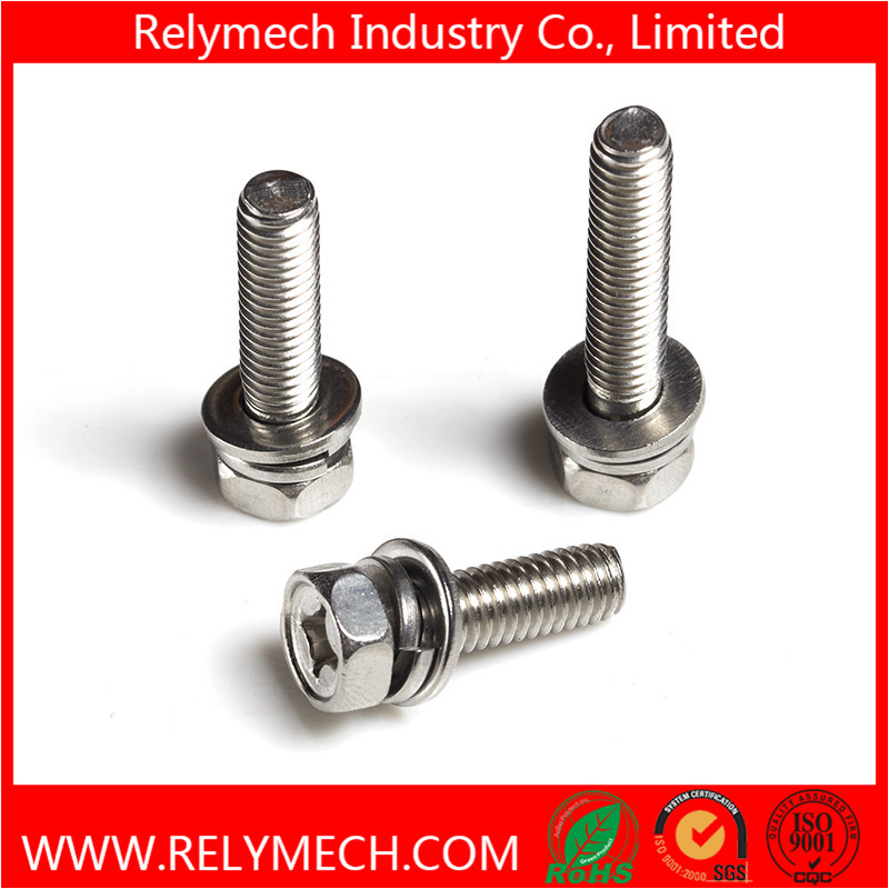 Phillips Hex Head Combination Screw/ Sem Screw with Washer in SUS304
