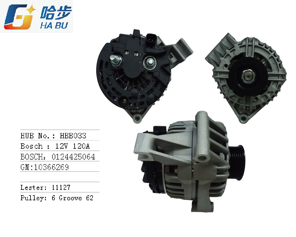 Auto/Car Alternator for Buick 0124425064, 10366269
