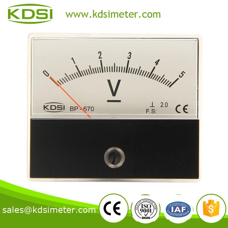 电压表电流表 直流电压表 bp-670 dc5v 指针电压表