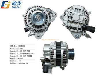 Alternator for Honda 31100-Rna-A01 Lester: 11176,HBM053