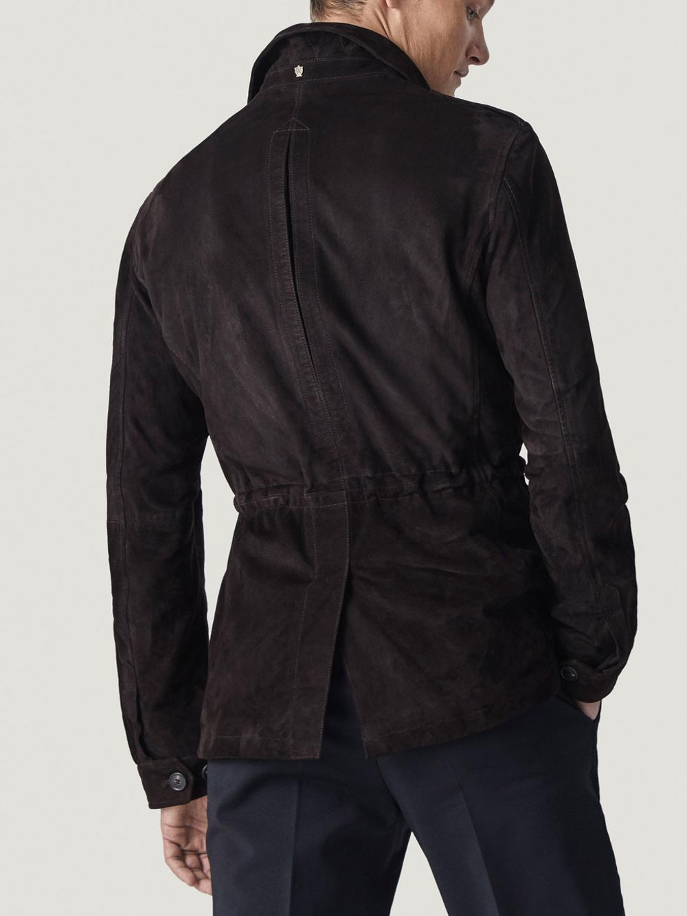 P18E042BW Fashion wholesale factory price high quality men suede leather jacket