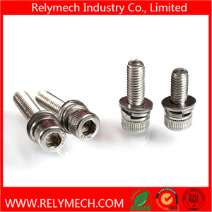 Cup Head Hex Head Combination Screw/ Sem Screw with Washer in SUS304