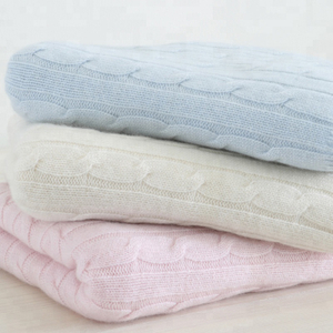 Wholesale hot warm super soft knitted cashmere blanket