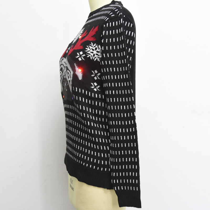 PK18A90YF Custom Christmas Sweater Pullover with LED