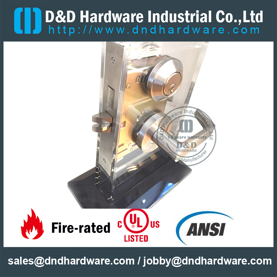 Sus304 Durable Ansi Mortise Door Lock For Storeroom Door