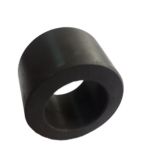 Ferrite permanent magnet multipole rings for dc motor