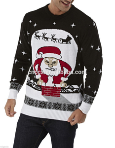 15CSU036 100% acrylic high quality knitted christmas sweater