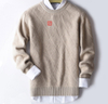 P18B015CH men crew neck cashmere sweater long sleeve pullover sweater knitting pattern
