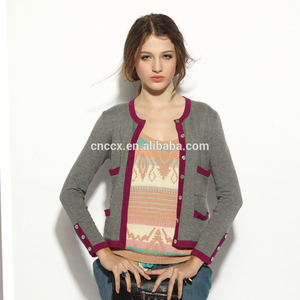 16STC8067 cashmere cardigan sweater for woman