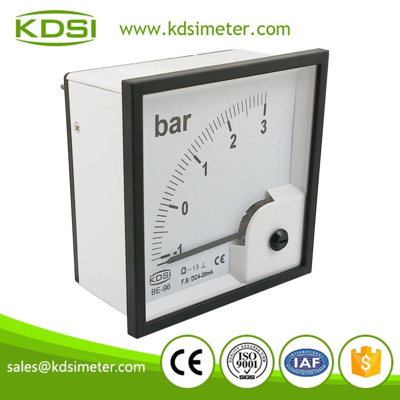 指针式直流电流表 be-96 dc4-20ma -1-3bar 方形电流表头 安培表