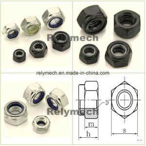 Stainless Steel/Carbon Steel Nylon Insert Hex Lock Nut