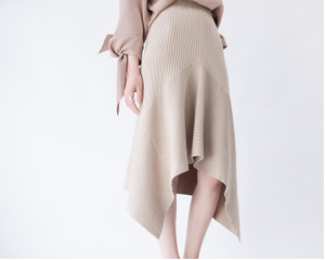 P18B096CH Knitted fishtail irregular swing skirt fashion and elegant for women