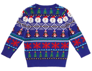 18CSK021 2018 knit kids christmas sweater
