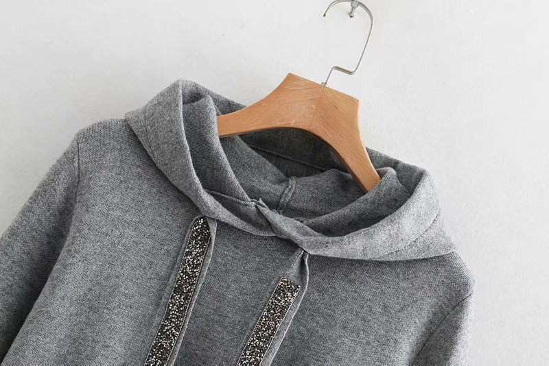 2019 Spring OEM wool cashmere knitted fitness hoodies custom for women