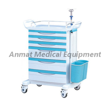ABS Hospital Crash Cart Emergency Trolley with four casters