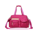mom pink custom handbag diaper bag for girl