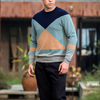 17PKCS211 100% Cable Cashmere Wool Knit Winter Men Sweater