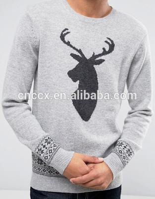 PK17ST067 wool blended Christmas jumper custom men pullover