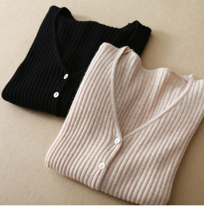 P18B031CH knit wool cashmere knitted lady sweater cardigan