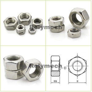 Stainless Steel Left Thread Hex Nut/Hexagon Nut