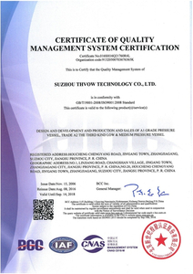Certificate of Q.M.S. ISO9001