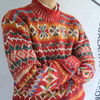 P18B169BE Men Winter Latest Fashion Colorful Jacquard Turtleneck Christmas Sweater