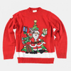PK17ST086 New design red and snow white Christmas jumper