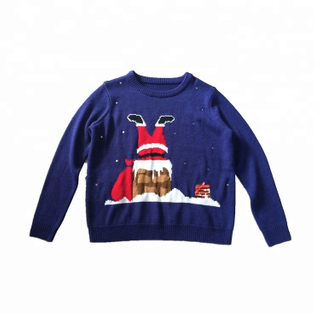 custom kids ugly Christmas sweater top funny design christmas pullover children christmas jumper cotton sweater novelty
