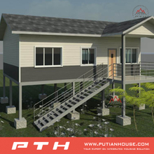 Simple Classical Villa Building Prefab House with Low Cost