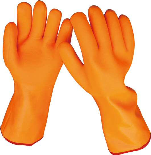 ORANGE PVC GLOVES