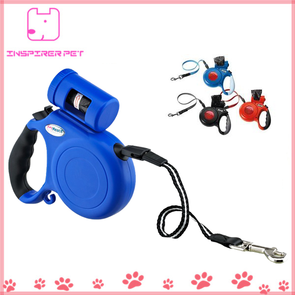 Retractable Dog Leash with Bag Holder