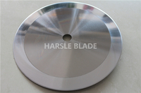 Mirror grinding circular blade, HSS round disc blade for tape and rubber