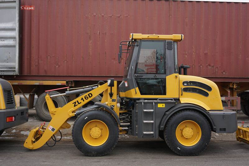 with winter tyre small loader ZL16D,1.6t wheel loader with CE approved