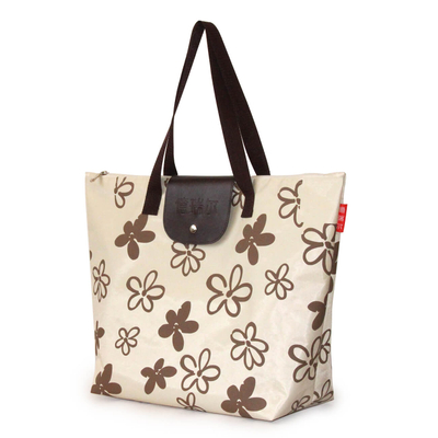 600D polyester foldable tote bag