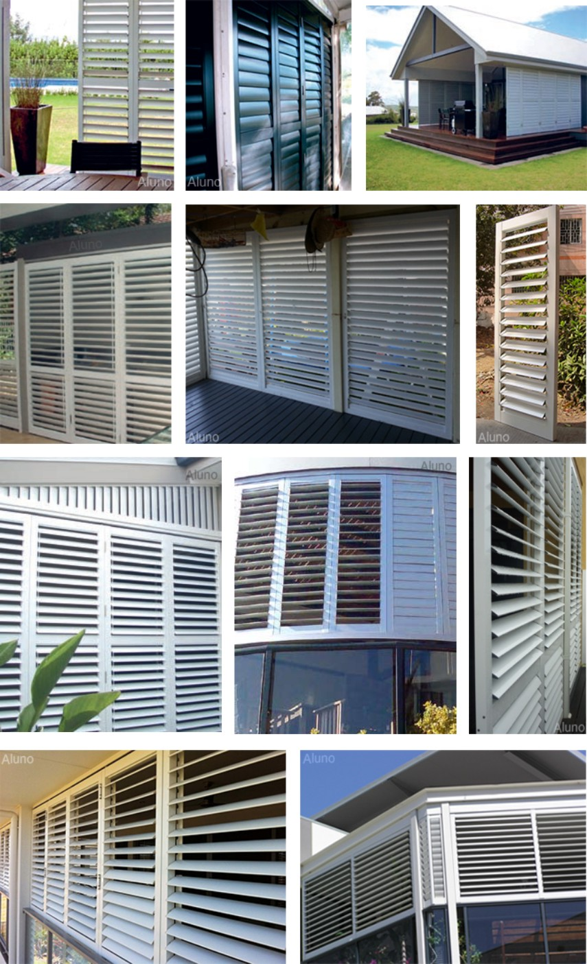 Exterior bi folding aluminium louvered shutters buy - Exterior louvered window shutters ...