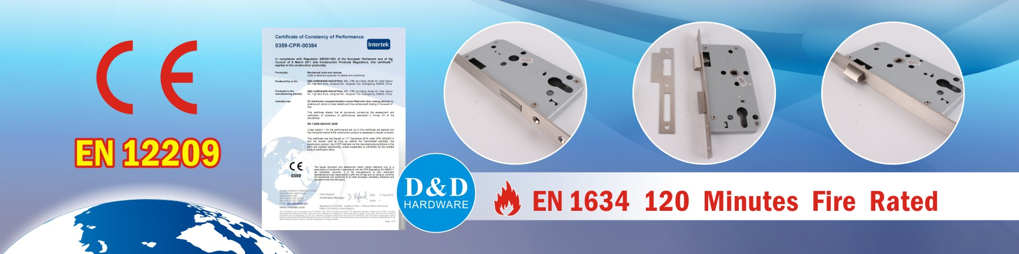 Door Lock with CE certificate-D&D hardware