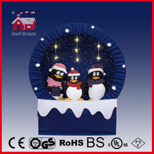 (40110F150-3P-BB) Snowing Christmas Decorations with Frame-supported and Textile-decorated