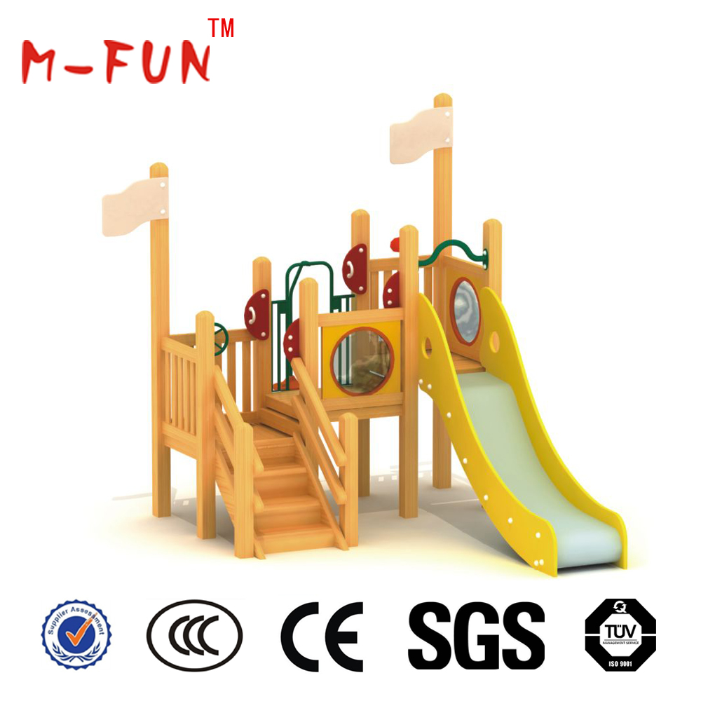 Playground equipment metal slides