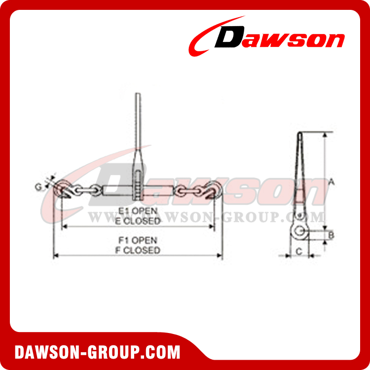 DSRLBH RATCHET TYPE LOAD BINDER dawson
