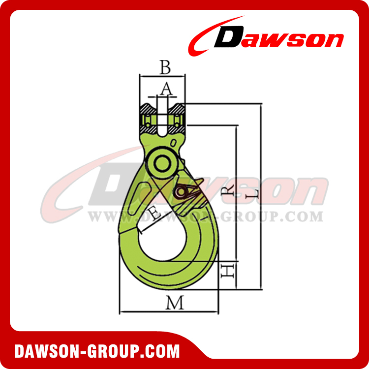 DS1006 G100 European Type Forged Clevis Self-Locking Hook for Lifting Chain Slings